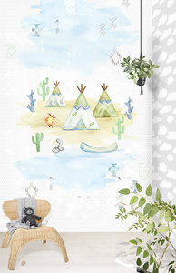 Puck & Rose Posterbehang - Tipi time