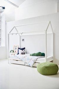 hoppekids huis bed basic 90x200 wit
