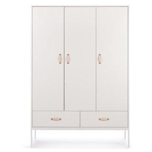 Coming kids Bliss 3 deurs metaal-hout hang-legkast wit