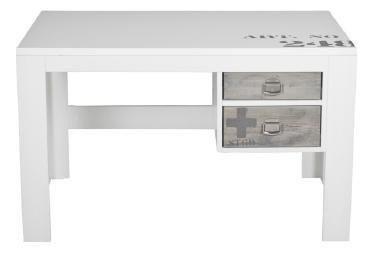 Stapelgoed urban bureau met alde wit hout for Bureau 60x120