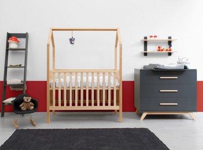 Bopita Kyan My First house 2 delige babykamer deep grey - naturel