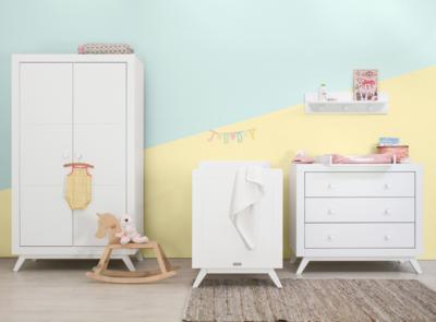 Bopita Fiore 2 deur kledingkast wit