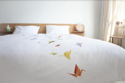 Snurk beddengoed crane birds universe dekbedovertrek
