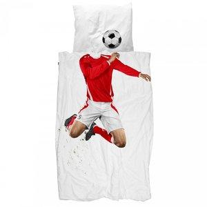 snurk voetbal rood overtrek