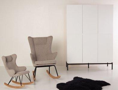 Mooie Grote Schommelstoel.Quax Rocking Adult Chair De Luxe Sand Grey Kinderbeddenstore