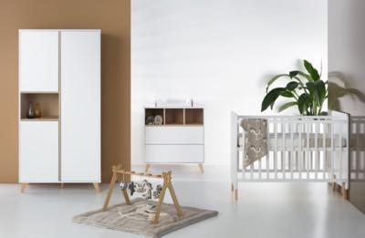 Babykamer Wit Hout.Quax Loft 3 Delige Babykamer Wit Kinderbeddenstore