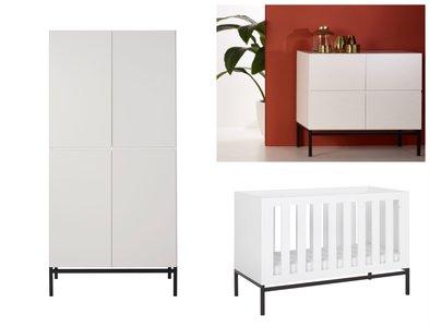 Quax havana 3-delige babykamer wit/zwart