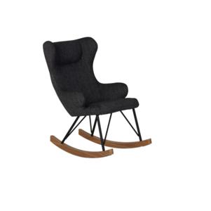 Mooie Grote Schommelstoel.Quax Rocking Kids Chair De Luxe Black Kinderbeddenstore