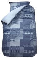 Bink patchwork grijs dekbed