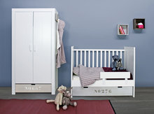 bopita babyflex basic wood combi bed 60x120