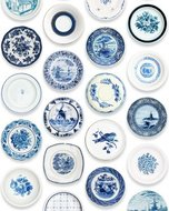 studio ditte porselein behang blauw