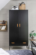 Coming kids Bliss 2 deurs metaal-hout hang-legkast zwart