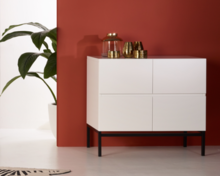 Quax havana commode 4 laden wit/zwart